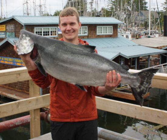 Andrew Sanden with a 44 lb Tyee August 8,2008