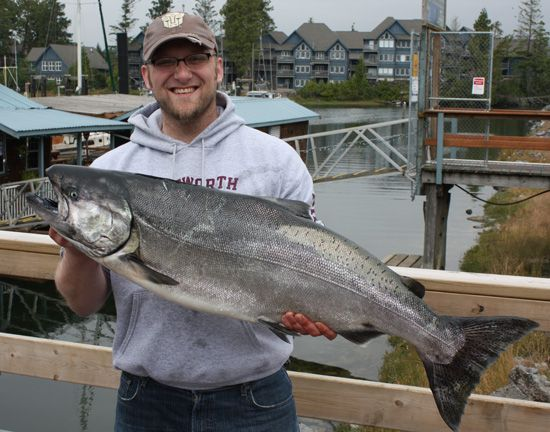 Bassione Van Soest with a 34 lb Tyee August 2, 2008
