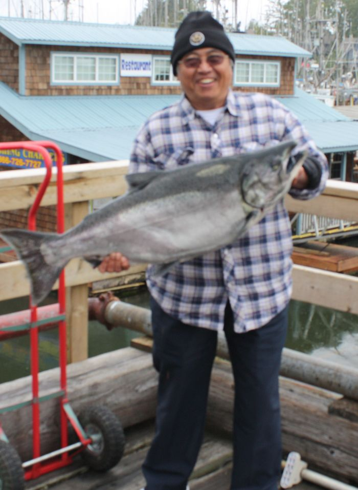 Budi Setiawan with a 30 lb Tyee August 9, 2008