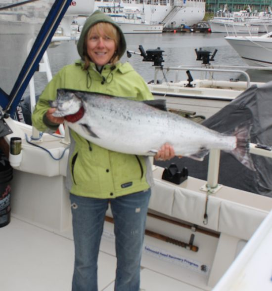 Filina Sigal with a 32 lb Chinook July 31, 2008