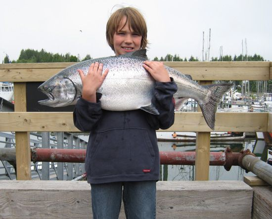 12 years old holding 21 pounds! July 8, 2008