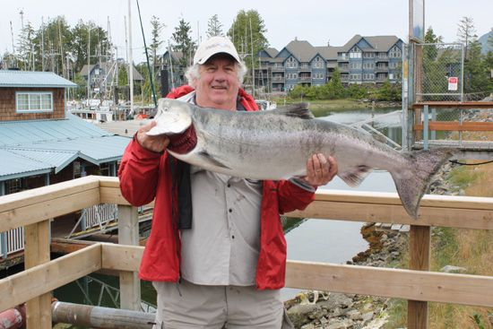 Robert Greenhill from Australia with a 34 lb Tyee July 28, 2008