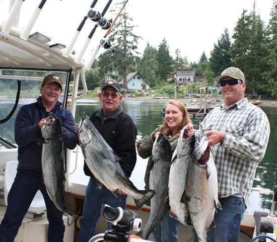 Jeff Fox Group with some 30-42 lb Chinook, Aug 6, 2009