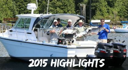 Salmon Fishing Highlights 2015, Ucluelet BC