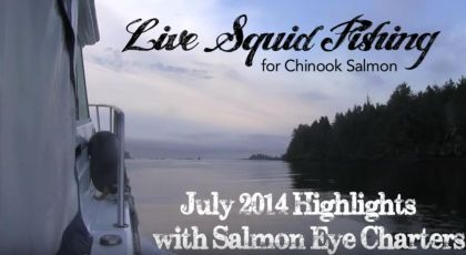 Live Squid fishing July 25, 2014 Ucluelet BC on GoPro